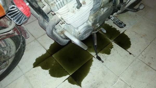 Es gasolina o aceite?