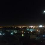La vista de Aguascalientes por la noche